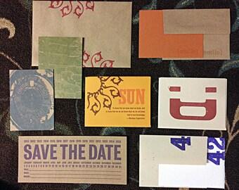 20 Letterpress Greeting Random Remainder SALE