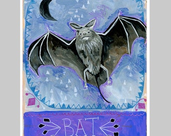 Animal Totem Print - Bat