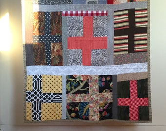 Bowie quilt -- cotton -- crosses -- throw -- Berlin trilogy