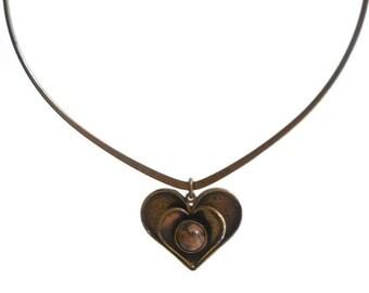 Modernist Scandinavian Bronze Necklace by Pentti Sarpaneva
