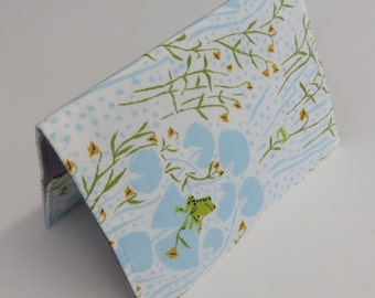 READY TO SHIP - Passport Holder Cover Case Cruise Holiday Travel Holder - Frogs on Lilypads - Far Far Away - Heather Ross