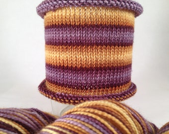 Hair Apparent: Hand-dyed gradient self-striping sock yarn, 80/20 SW merino/nylon
