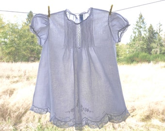 Feltman Bros Hand Embroidered Baby Dress Size 12 Months