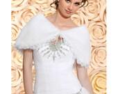 Katie Taffeta Bridal Bolero, Satin Wedding Bolero, Organza Bridal Jacket