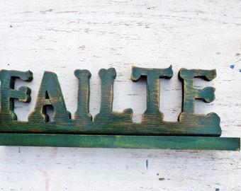 Failte Sign, Irish Welcome Sign, Celtic Decor, Reclaimed Wood Sign, Rustic Irish Sign, Gaelic Greeting, Irish Decor, Custom Name Sign