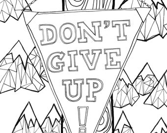 Drawing On The Brightside - 12 Print Your Own Adult Colouring Sheets Positive Quotes PDF