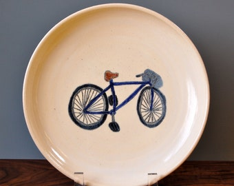 Blue Bicycle Plate
