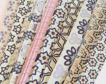 "1/2"" Weaving Star Paper~ Purples, Pinks Kaleidoscopes (80 strips)"