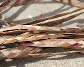 Braided coconut fiber trim- 1/2 inch wide- 22 foot roll- or 7.5 meters-bacbac trim