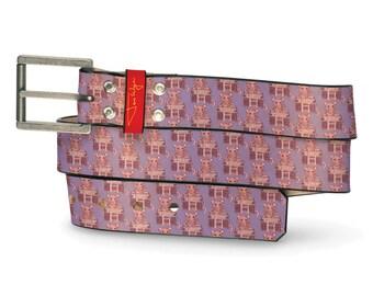 Rat with Boombox Leather Belt, Animal Belt, Leather Belt Boombox Music