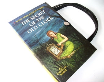 Nancy Drew Book Purse The Secret of the Old Clock Handbag Vintage Book Purse