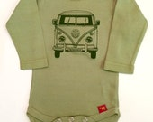 Private Listing for Marina 3-6 Month Sage Bus Onesie