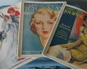 3 Beautiful Vintage Ladies Home Journal Magazines 1931, 1932