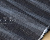 Japanese Fabric - yarn dyed yoroke waves - L - 50cm