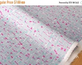 Japanese Fabric Stormy  - grey, pink, green - 50cm