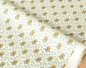 Japanese Fabric delicate vines - cotton lawn - mustard, green, blue - 50cm