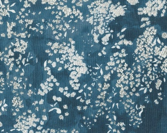 Nani Iro Kokka Japanese Fabric Lei nani - for beautiful corolla linen - sea hawaii - 50cm