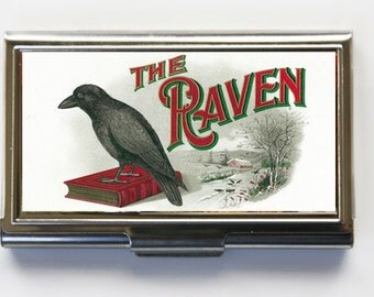 The Raven Business Card Holder Card Case gothic crow
