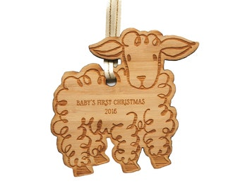 2016 Baby's First Christmas Ornament - Lamb