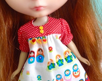 Smock Dress for Blythe - Matrisoka Dolls