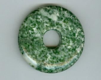 45mm Green Tree Agate PI Donut Pendant Bead 602