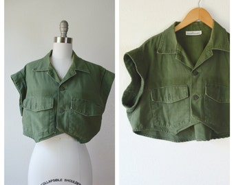 crop army top / s-m