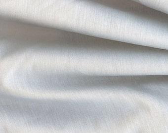Silk Cotton Twill Fabric Beautiful White Wedding or Heirloom