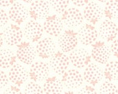 HALF YARD Lecien - Pink Strawberries on CREAM - Old New 30s Collection Spring 2016 - Ivory White - Japanese