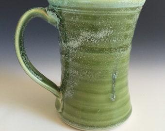 Large 16  ounce mug in green stein tankard
