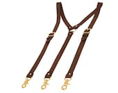 Custom Leather Suspenders for R.W.