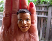 African American Ken with hair - 1 adjustable ring