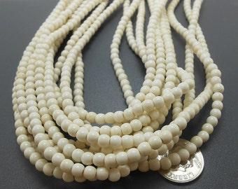 105 Natural White Howlite Beads 4MM (H7018-OS)