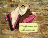 Sangria Spring Poncho wrap Shrug poncho jacket wrap boho shawl shrug boho poncho gypsy clothing wearable art boho chic FREE U.S. SHIPPING