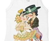 Tango Tank Top, Spanish Kids Shirt, Baby Children's Infant Tee,  3m, 6m, 12m, 18m, 2, 4, 6, 8, 10, 12