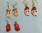 BLING bones-skull earrings with sparkling swarovski crowns