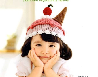 CROCHET Fruit Vegetable Sweets Caps - Japanese Craft Book