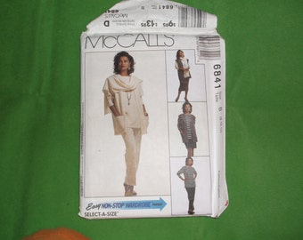 McCalls 6841 Select a Size Skirt, tunic, shawl, skirt, pants