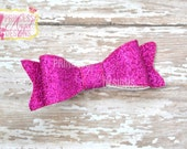 Hot Pink Glitter Bow - 3D Bow - Girls Bow - Toddler Bows