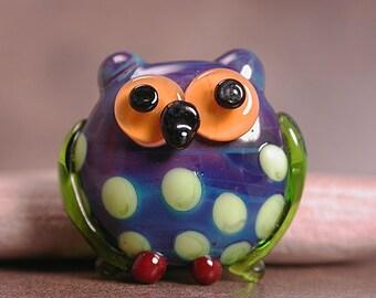 Art Glass Owl Bead Totem Divine Spark Designs SRA