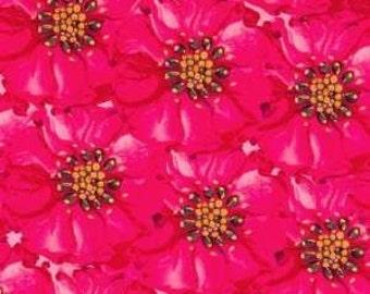 CLEARANCE 1 Yard Tina Givens Kika in Pink Flowers