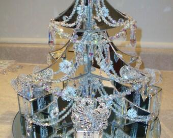 Mirror and Swarovski Crystal Christmas tree.