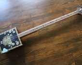 Cigar Box Style Bass Guitar, 2 String