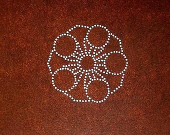 Vintage Japanese Stencil - Family Crest - Japanese Kamon - Vintage Stencil - (70) flower