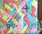 1960s Vintage Crazy Quilt - Large Quilt
