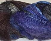 Hand dyed yarn, Biggie, Harper's Ferry colorway, wool, silk, nylon