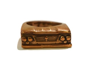 1963 Dodge D-100 Truck Ring in White or Gold Bronze