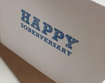 Happy Soberversary Recovery Sober AA Anniversary Birthday Card