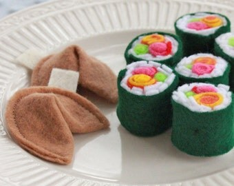 Felt Play Food- Cindy's Spicy Sushi Rolls