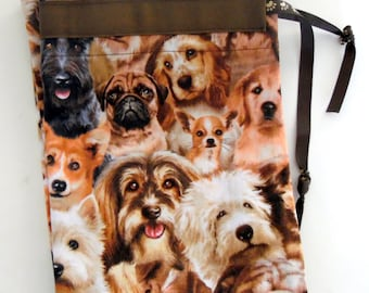 Dog Travel Laundry Bag, Dog Themed  Laundry Bag, Dog Lover Vacation Laundry Bag, Pet Lover Drawstring Bag, Dog Drawstring Laundry Bag