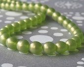 6mm Olivine Sueded Gold Czech Glass Bead Round Druk: 50 pc Gold Suede Olive 6mm Druk